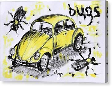 Bugs Canvas Print by Sladjana Lazarevic