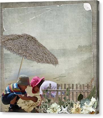 Building Sandcastles Canvas Print by Joanne Kocwin