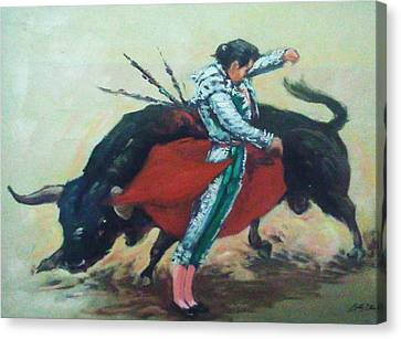 Bull Fighter 3 Canvas Print by Baez