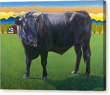 Bull Market Canvas Print by Stacey Neumiller