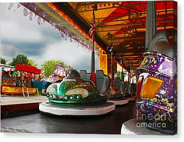 Bumper Cars Canvas Print by Terri Waters