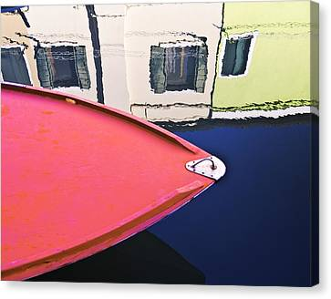 Burano Colorful Art  #1 - Burano Venice Italy Fine Art Photography Canvas Print by Artecco Fine Art Photography