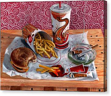 Burger King Value Meal No. 3 Canvas Print by Thomas Weeks