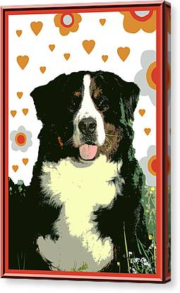 Burmese Mountain Dog Canvas Print by One Rude Dawg Orcutt
