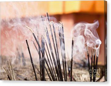 Burning Incense Canvas Print by Inti St. Clair