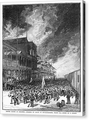 Burning Of Colon, 1885 Canvas Print by Granger