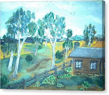 Bush Cabin Canvas Print by Julie Butterworth