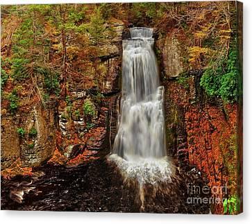 Bushkill Main Falls Canvas Print by Nick Zelinsky