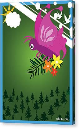 Butterfly 133 Canvas Print by Saba Nassiri