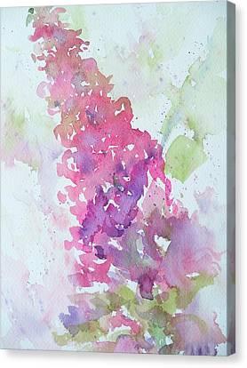 Butterfly Bush Plein Air Canvas Print by Sandy Collier