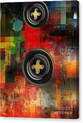 Button To The Top Canvas Print by Fania Simon