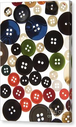 Buttons Canvas Print by Bernard Jaubert