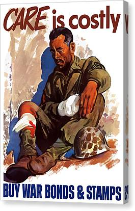 Buy War Bonds And Stamps Canvas Print by War Is Hell Store