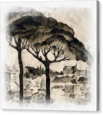 By Italy Canvas Print by Odon Czintos