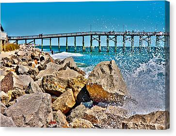 By The Pier Canvas Print by Betsy Knapp