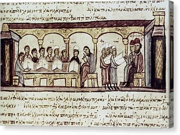 Byzantine Philosophy School Canvas Print by Granger