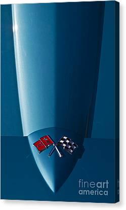 C2 Corvette Hood Canvas Print by Dennis Hedberg