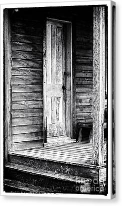 Cabin Door Canvas Print by John Rizzuto