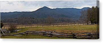 Cade's Cove - Smoky Mountain National Park Canvas Print by Christopher Gaston