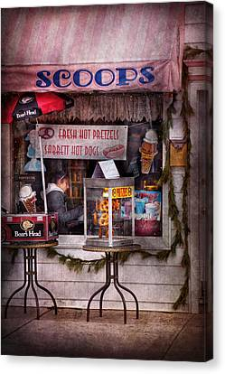Cafe - Clinton Nj - The Luncheonette  Canvas Print by Mike Savad