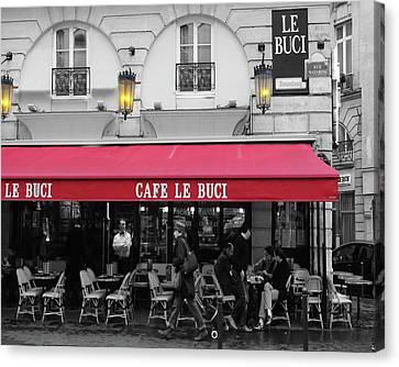 Cafe Le Buci Canvas Print by Tom Reynen