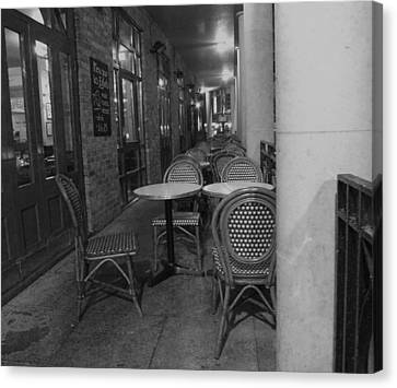 Cafe Rouge Canvas Print by Anna Villarreal Garbis