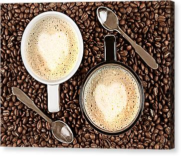 Caffe Latte For Two Canvas Print by Gert Lavsen