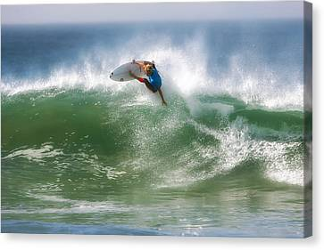 California Surfing 1 Canvas Print by Larry Marshall