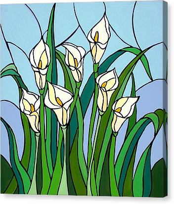 Calla Lilies Canvas Print by JW DeBrock