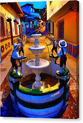 Calle Del Recuerdo Canvas Print by Skip Hunt