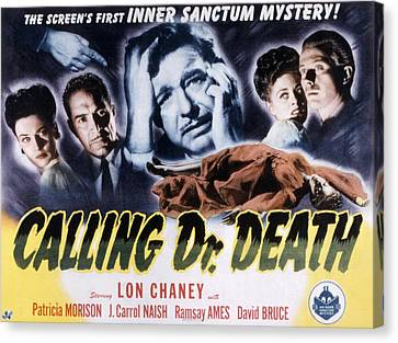 Calling Dr. Death, Patricia Morison, J Canvas Print by Everett