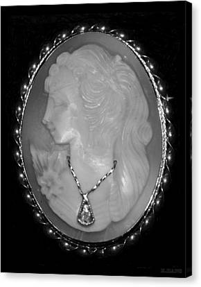 Cameo In Black And White Canvas Print by Rob Hans