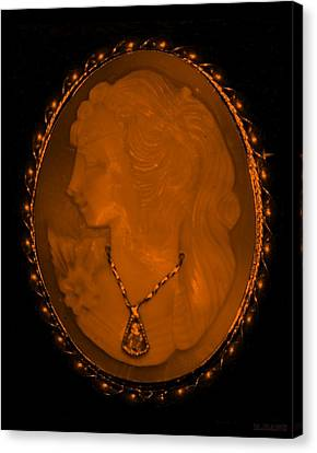 Cameo In Orange Canvas Print by Rob Hans