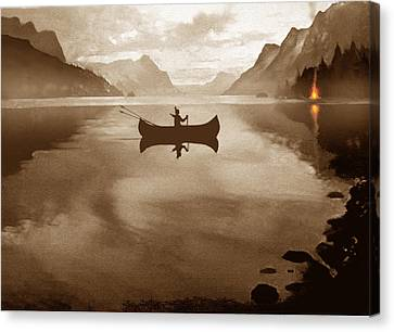 Camp Waters Canvas Print by Robert Foster