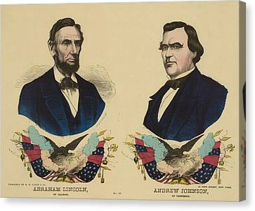 Campaign Banner For The Republican Canvas Print by Everett