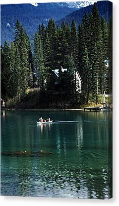 Canadian Rockies Canvas Print by John Doornkamp