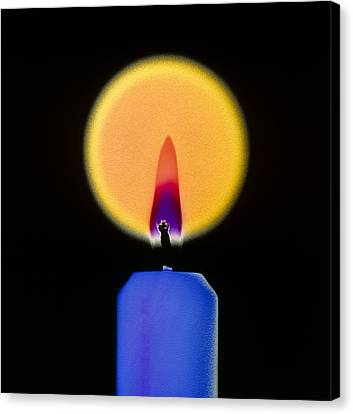 Candle And Flame Canvas Print by Dr Jeremy Burgess