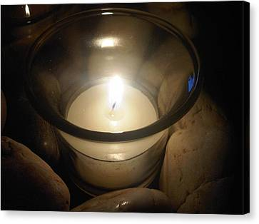 Candle For A Friend Canvas Print by Michael Merry