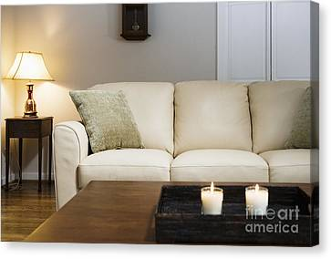 Candlelit Living Room Canvas Print by Andersen Ross