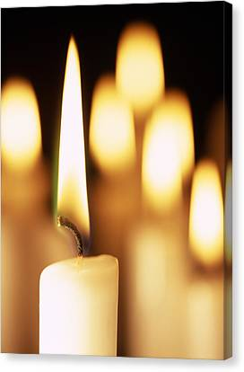 Candles Burning Canvas Print by Cordelia Molloy