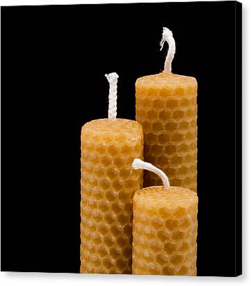 Candles Canvas Print by Tom Gowanlock
