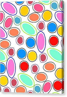 Candy Spots Canvas Print by Louisa Knight