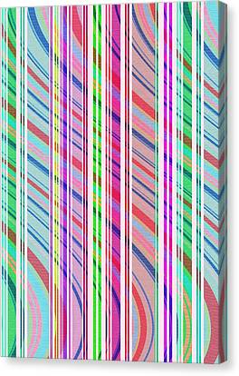 Candy Stripe Canvas Print by Louisa Knight