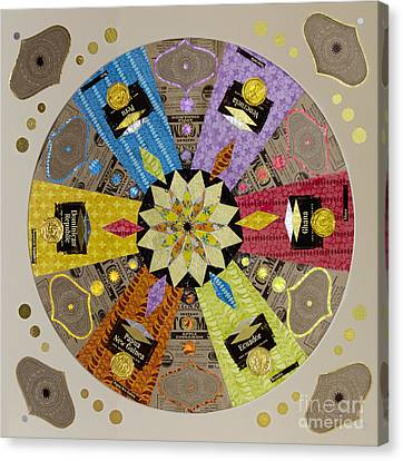 Candy Wrapper Mandala Canvas Print by Fourth and Fith Grades