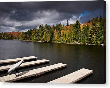 Canoe Lake Canvas Print by Cale Best