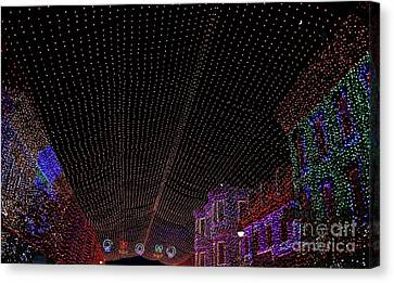 Canopy Of Lights Canvas Print by Ronnie Glover