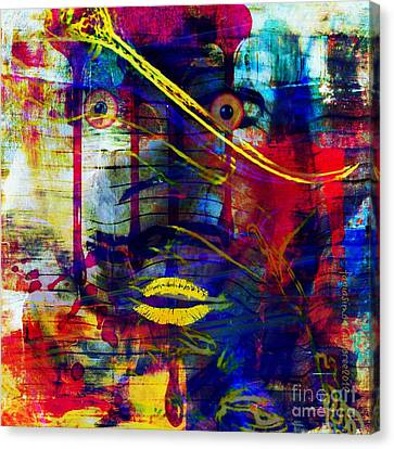 Can't Even Begin To Tell It Canvas Print by Fania Simon