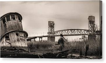 Cape Fear Memorial Bridge Canvas Print by JC Findley