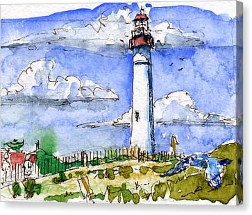 Cape May Lighthouse Study Canvas Print by John D Benson