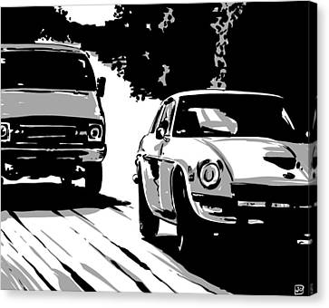 Car Passing Nr 2 Canvas Print by Giuseppe Cristiano